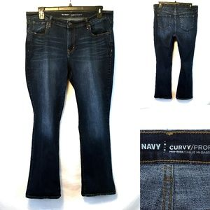 Old Navy Curvy Dark Distressed Bootcut Jeans 16R